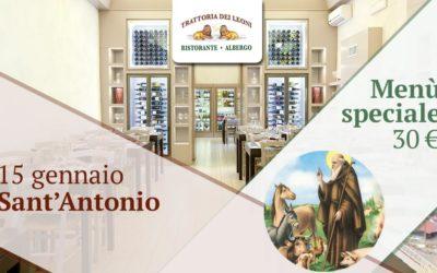 Festa di Sant'Antonio! Menù speciale.